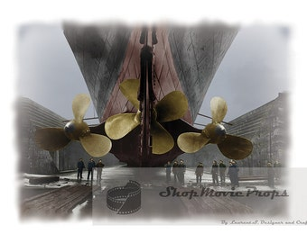 Titanic 1912 Picture of propeller color