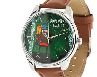 Adventure Awaits Wrist Watch / Going away gift / Travel gift / Wrist Watch / Travel Watch / Explorer Gift / Mens Watch / Womens Watch