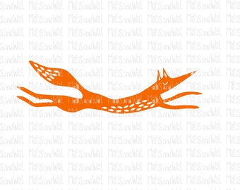Fox svg/png/dxf cricut/silhouette cutting file/woodland svg/leaping fox svg/animal svg/folk art fox/running fox/quirky fox svg/fox png/HTV