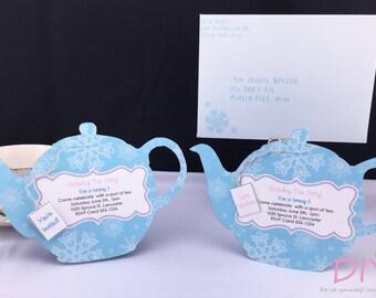 Printable All Occasion Tea Party Invitation Tea Pot Etsy