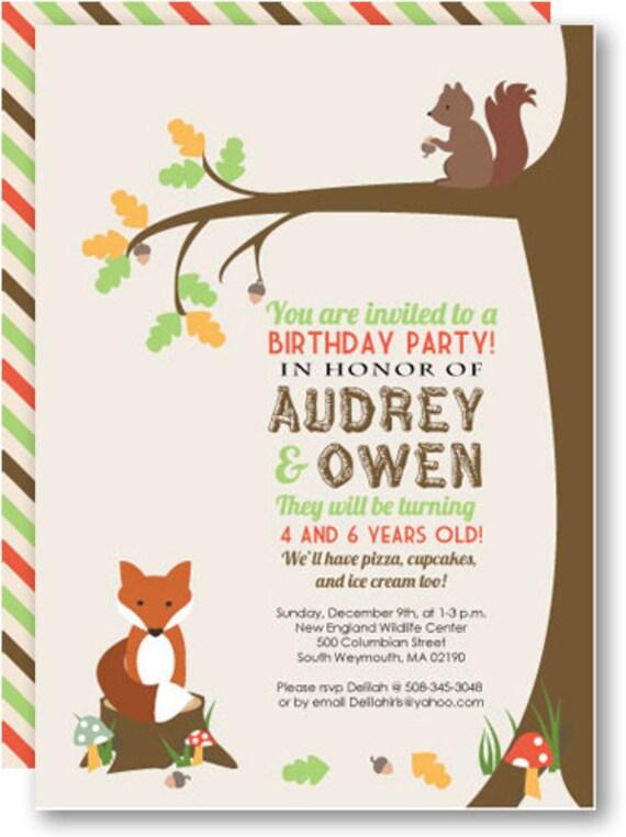 Printable Woodland Invitation Kit Birthday Party