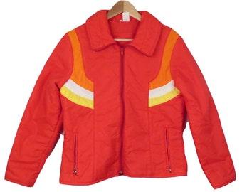 Vintage 70s Colorblock Ski Jacket Size M/L