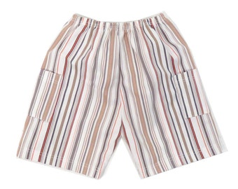 Vintage 80s/90s Vertical Striped Shorts Size 3 MOS
