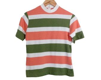 b640cf91a75cb4 Vintage 60s Striped Tshirt Size S/M