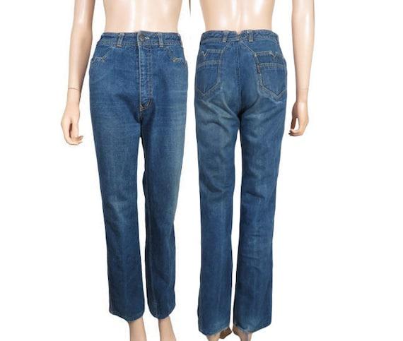 Vintage 70s High Waist Nest Ce Pas Boot Cut Jeans