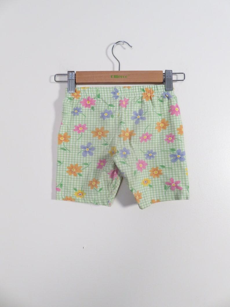 Vintage 90s Girls Floral Print Shorts Size 4T