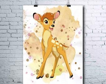 Bambi - Deer Print- Bambi Poster - Disney - Bambi Print - Bambi Printables - Bambi Wall Art - Bambi Posters - Gift - Anniversary - Birthday