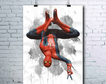Spider-Man - Spiderman Printable - Spiderman Print - Spiderman Wall Art - Spiderman Art - Spiderman printables - Spiderman Watercolor