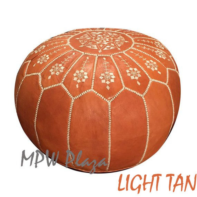 choice of Stuffed or Unstuffed Arch design by MPW Plaza Moroccan Pouf Ottoman