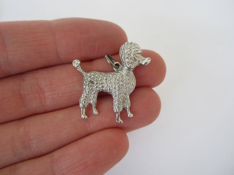 Sterling Silver Poodle Charm Dog Charm Puppy Jewellery image 0