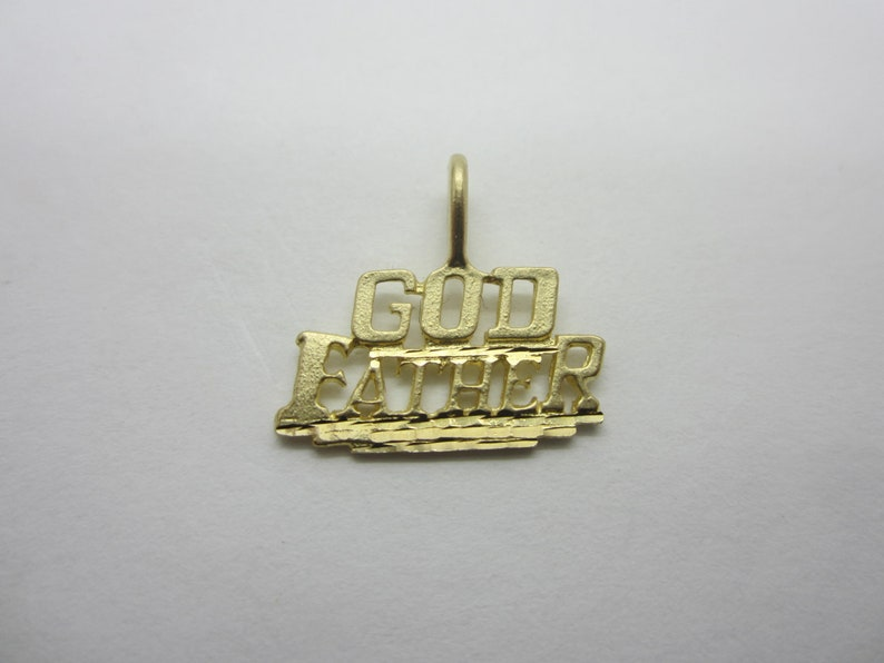10K Yellow Gold God Father Charm image 0