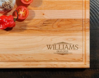 Personalized Monogram Maple Cutting Board - Custom Engraved  Initial Board - Gift for all Occasions