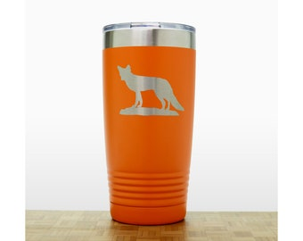 Fox Personalized 20 oz Insulated Stainless Steel Tumbler - Design 3 - Laser  Engraved Travel Mug - Animal Polar Camel Tumbler 70ec16f8569