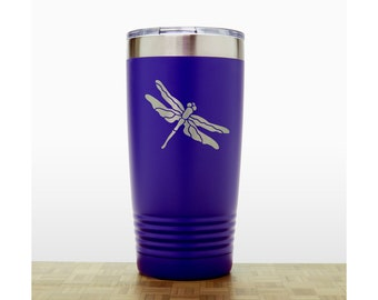 Dragonfly Insulated Stainless Steel Engraved 20 oz Polar Camel Tumbler - Free Personalization Available
