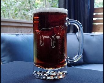 Donkey Beer Mug - Animal Personalized Gift - Free Personalization