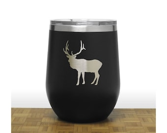 Elk Insulated Stemless Wine Tumbler - Free Personalization - Personalized Gift