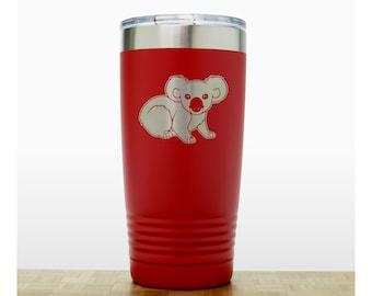 Koala Engraved Insulated Stainless Steel Tumbler - 20 oz Polar Camel Travel Mug Personalized Gift