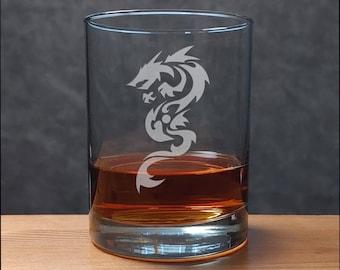 Dragon Whiskey Glass - Fantasy Personalized Gift - Free Personalization