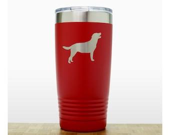 Labrador Retriever Personalized 20 oz Insulated Stainless Steel Tumbler - Design 2 - Dog Laser Engraved Travel Mug