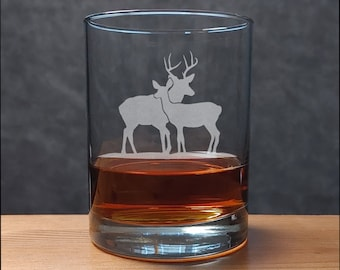 Stag and Doe Whisky Glass - Free Personalization - Personalized Wedding Gift