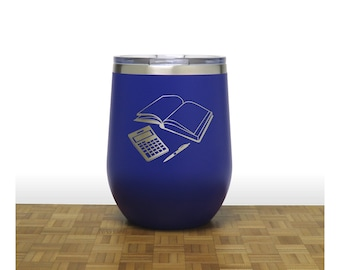 Bookkeeper Insulated Stemless Wine Tumbler - Free Personalization - Personalized Gift for Graduate