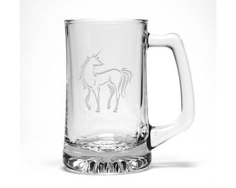 Unicorn Beer Mug - Free Personalization - Personalized Gift