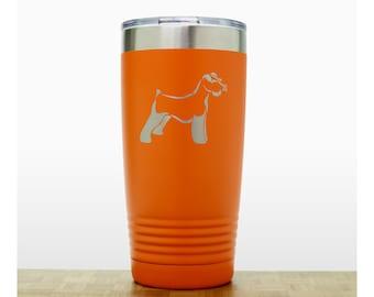 Mini Schnauzer Personalized 20 oz Insulated Stainless Steel Tumbler - Dog Laser Engraved Travel Mug