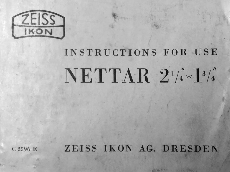 Zeiss Ikon Nettar 515 User's Manual Zeiss Ikon cameras Vintage  cameras Digital download