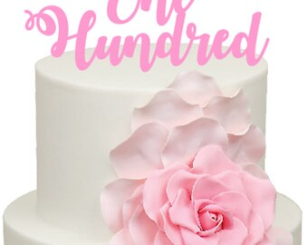 One Hundred Age Number Birthday Acrylic Cake Topper