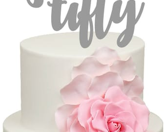 Fifty Age Number Birthday Acrylic Cake Topper