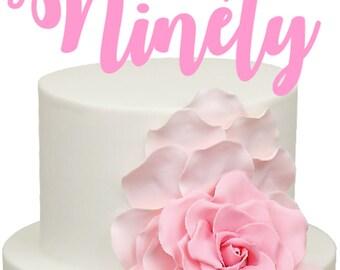 Ninety Age Number Birthday Acrylic Cake Topper