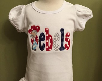 Ole Miss Rebels Monogrammed Shirt or Onesie