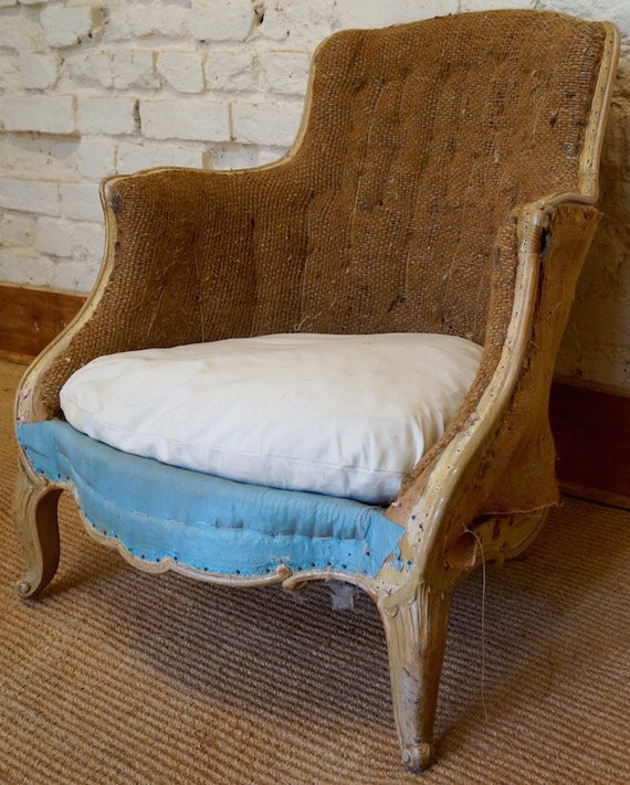 Pair of French Antique Louis XV Tub Chairs inc Reupholstery