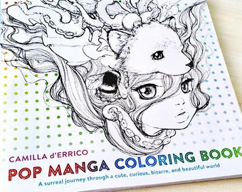 Pop Manga Mermaids And Other Sea Creatures Coloring Book Etsy