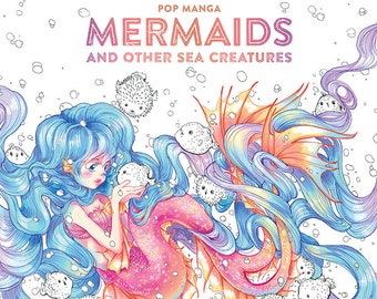 PRE-ORDER- Pop Manga Mermaids and Other Sea Creatures Coloring Book
