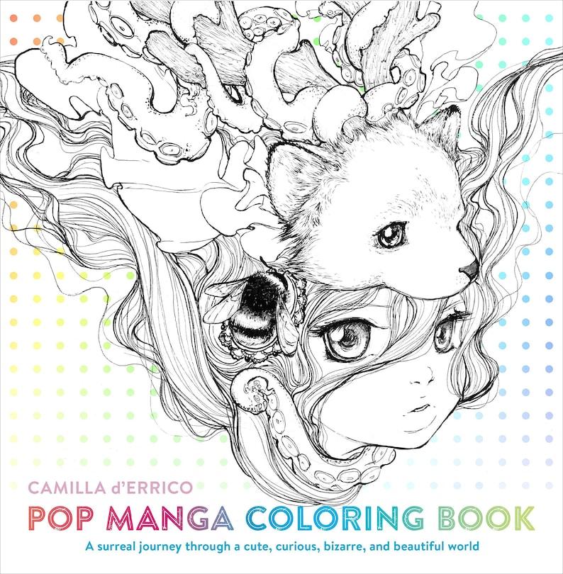 Pop Manga Coloring Book image 0