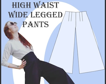 Sewing Pattern: Really Easy high waist wide legged pants