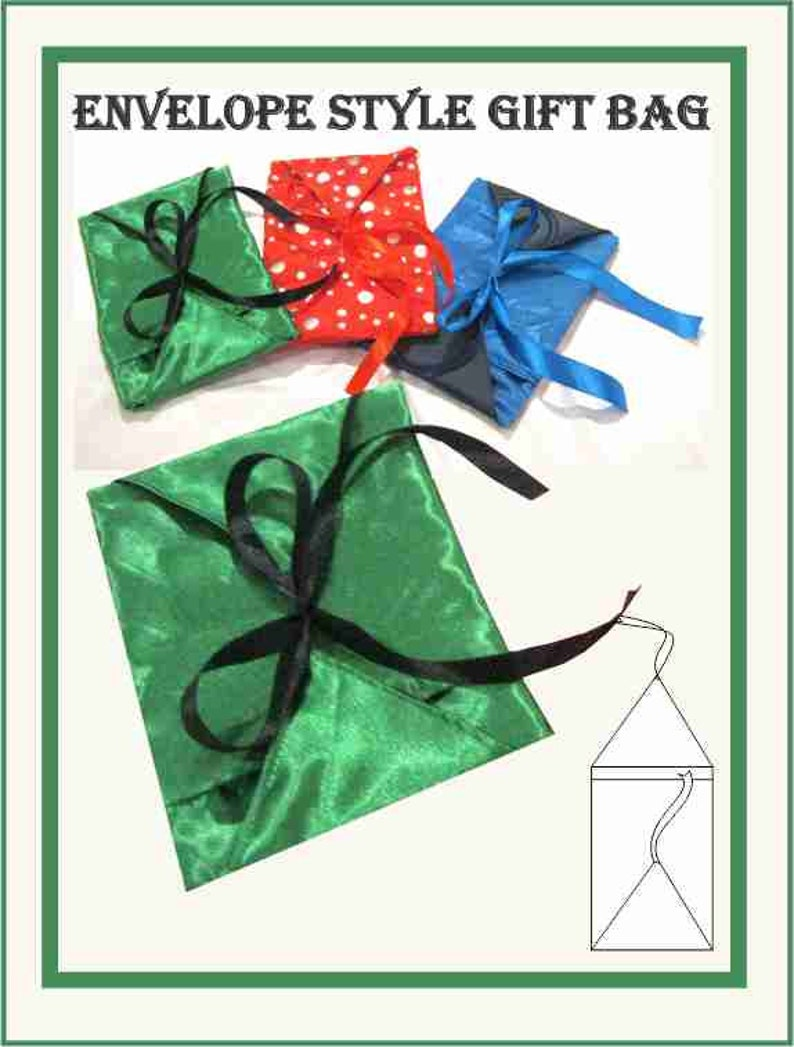 Sewing Pattern: Envelope style gift bag image 0