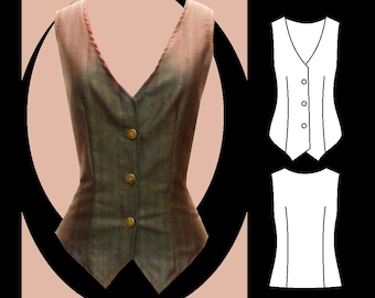 Sewing Pattern: Angelique ladies waistcoat