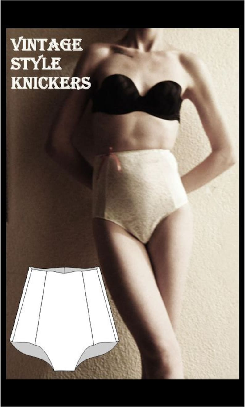 6fbfe099ccc Sewing Pattern  Vintage Style knickers size 12 to 16