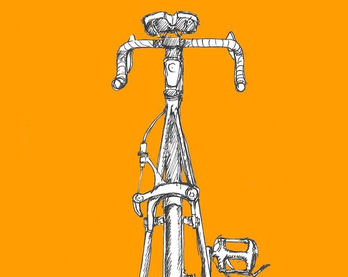 ROAD BIKE - Bicycle, Ride, Trek 1200, Drawing, Pen and Ink, Sketchbook, Art, Drawn There