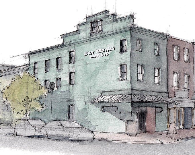 BERTHAS MUSSELS, BALTIMORE - Fells Point, Eat Berthas Mussels, Seafood, Drawing, Watercolor, Painting, Sketchbook, Art, Drawn There
