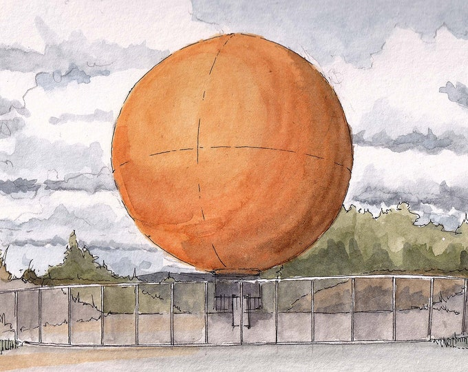 WORLDS LARGEST BALLOON - Orange County Great Park, Irvine, California, Helium, Watercolor Painting, Drawing, Sketchbook, Art, Drawn There