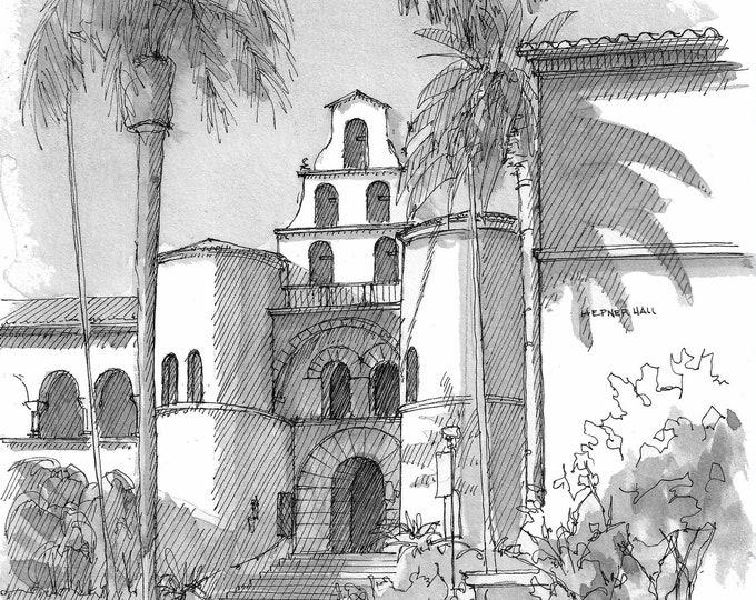SAN DIEGO STATE University - Architecture, California, Spanish Renaissance, Steeple, Tower, College, Campus, Quad, Masterplan, Drawn There