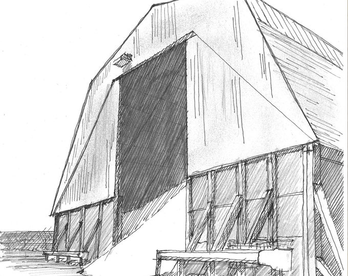 SALT BARN - Road Crew, Winter Storm, Icy Roads, DOT, Drawing, Pen and Ink, Sketchbook, Art, Drawn There