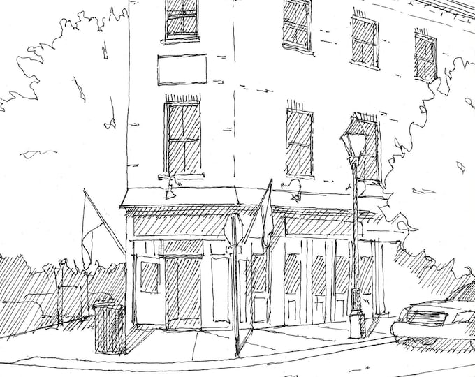 FELLS POINT BALTIMORE - Old House, Architecture, Urbansketcher, Pen and Ink, Sketchbook, Drawing, Art, Drawn There
