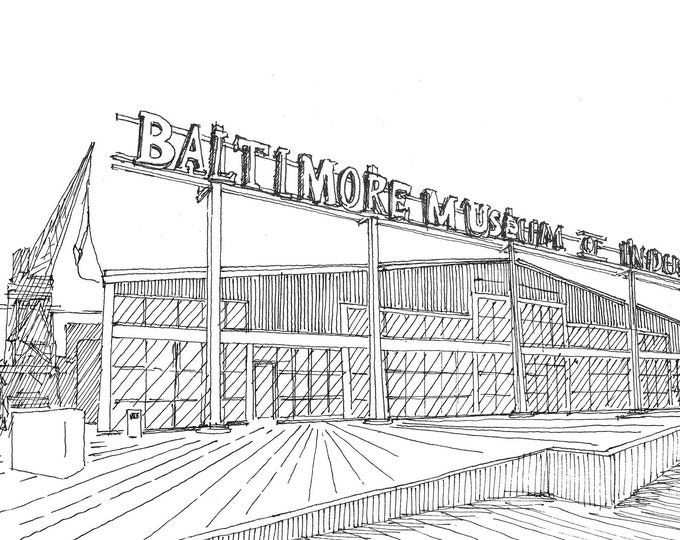 MUSEUM of INDUSTRY BALTIMORE - Wedding Venue, Drawing, Sketchbook, Pen and Ink, Architecture, Urbansketcher, Art, Drawn There