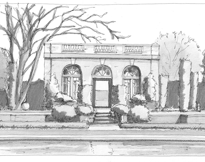 FILOLI ESTATE & GARDENS - Woodside, California, Horticulture, Architecture, Pen and Ink Drawing, Plein Air Sketchbook, Art, Drawn There