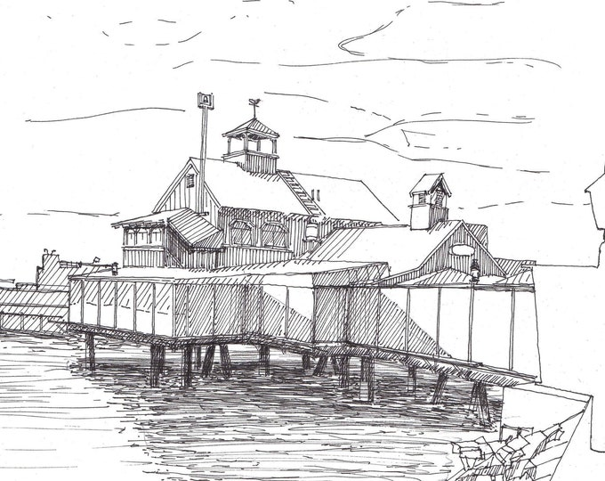 SEAPORT VILLAGE San Diego, California - Fishing Port, Architecture, Seafood, Mission Bay, Drawing, Pen and Ink, Sketchbook, Drawn There