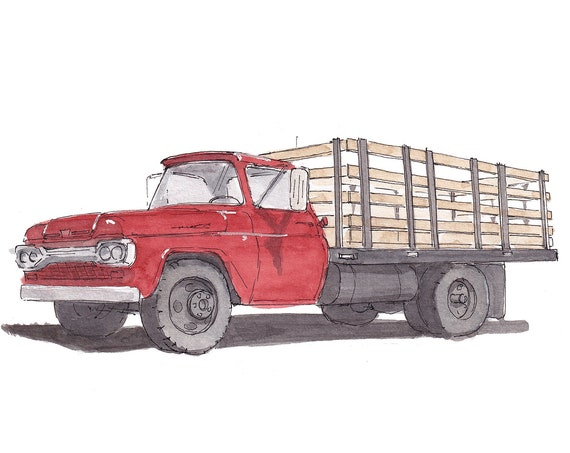 WINSLOW ARIZONA - The Eagles, Standin On A Corner, Route 66, Flatbed Ford, Watercolor, Drawing, Painting, Sketchbook, Art, Drawn There